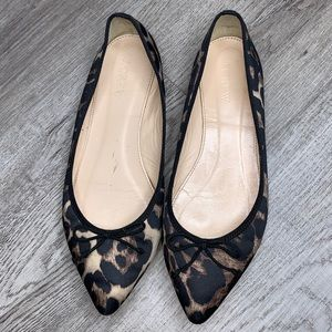 J. Crew Animal Print Pointed Flats Sz 6.5